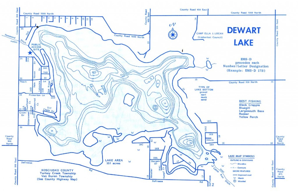 Dewart Lake Map